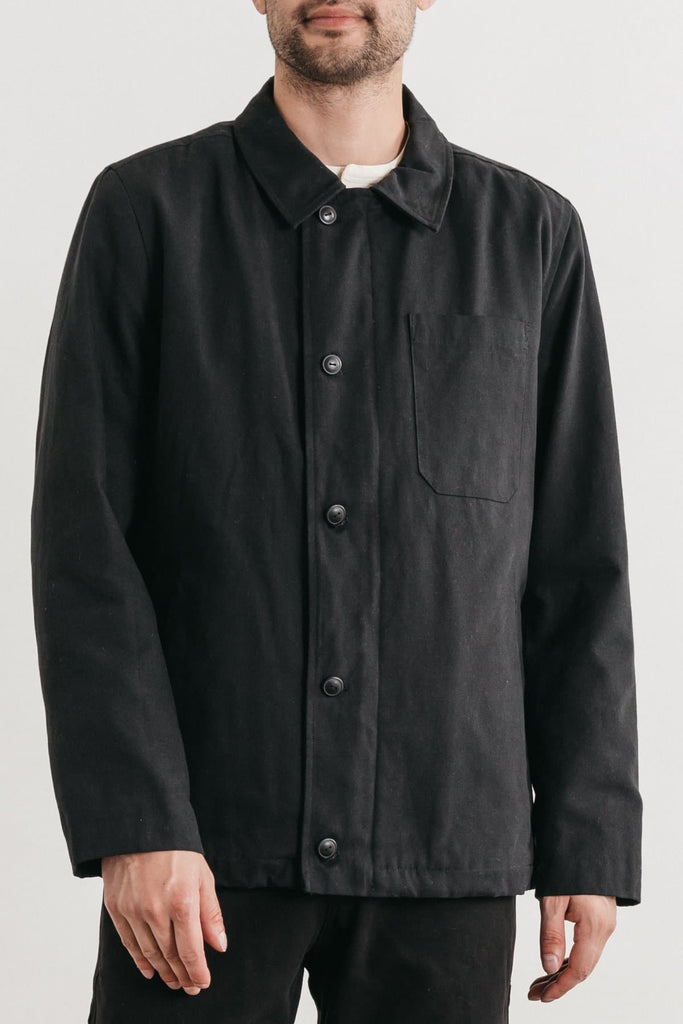 Ollie Charcoal Bridge & Burn men's deck jacket