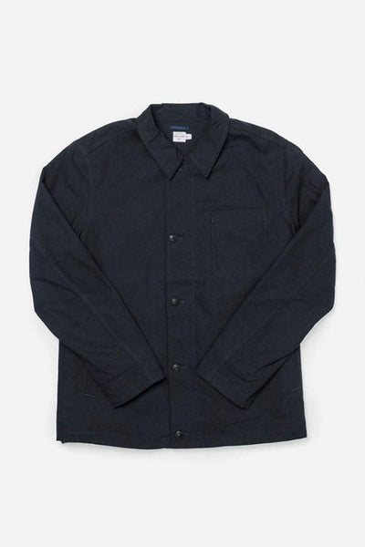 Ollie Waxed Navy Bridge & Burn men's deck jacket