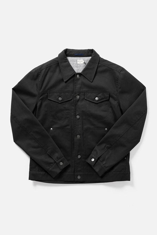 Burl Black Herringbone Bridge & Burn men's classic workwear jacket