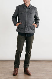 Burl Grey Herringbone Bridge & Burn men's classic workwear jacket