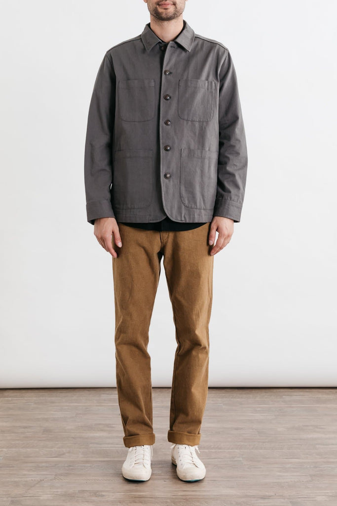 Amos Charcoal Bridge & Burn men's overshirt