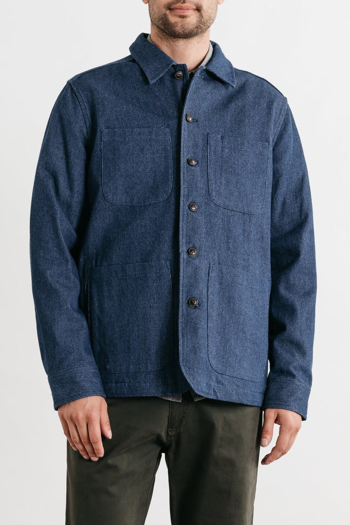 Amos Indigo Bridge & Burn men's unlined chore coat