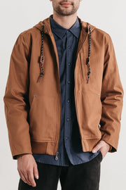 Emmett Tobacco Bridge & Burn men's hooded workwear jacket