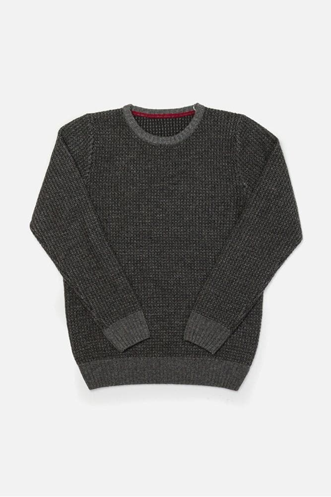 Brighton Grey Bridge & Burn mens mid-weight waffle knit sweater
