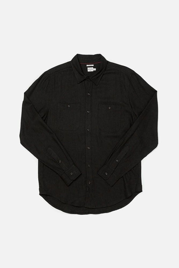 Winslow Black Bridge & Burn men's standard straight button up