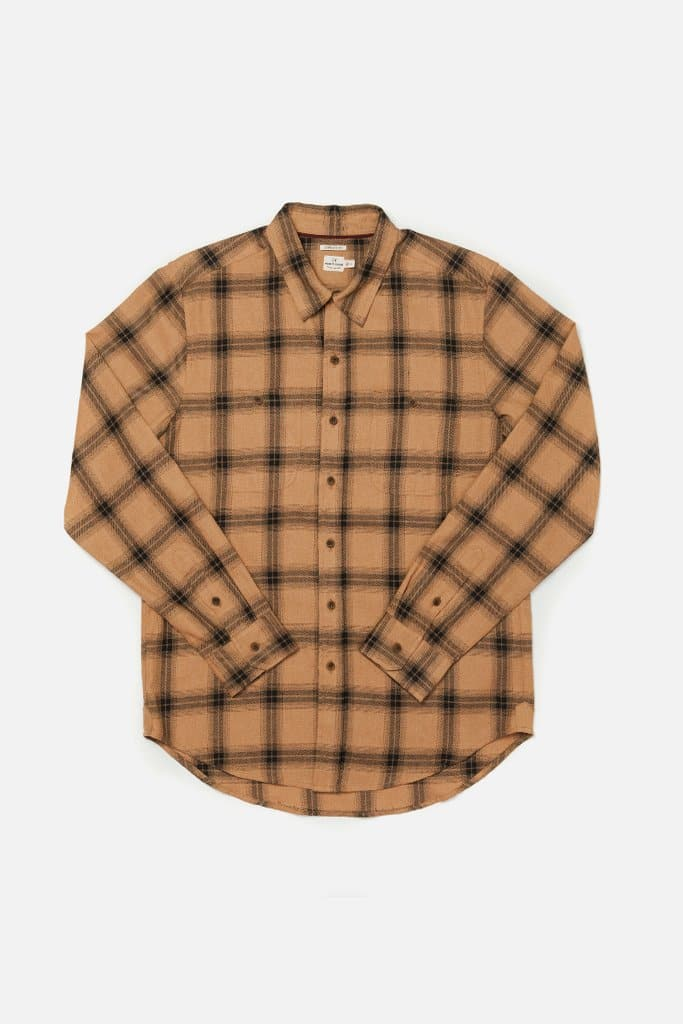 Winslow Ochre Plaid Bridge & Burn men's standard straight button up