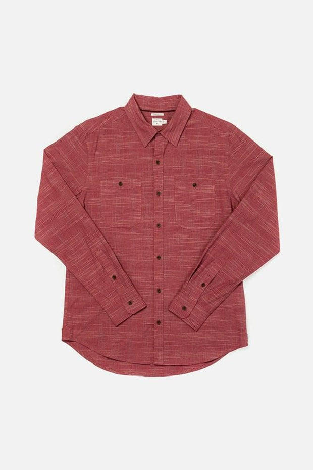 Winslow Red Grid Bridge & Burn men's standard straight button up