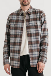 Winslow Sienna Plaid Bridge & Burn men's standard straight button up