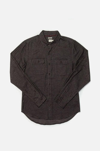 Cole Black Twill Bridge & Burn men's slim fit button up