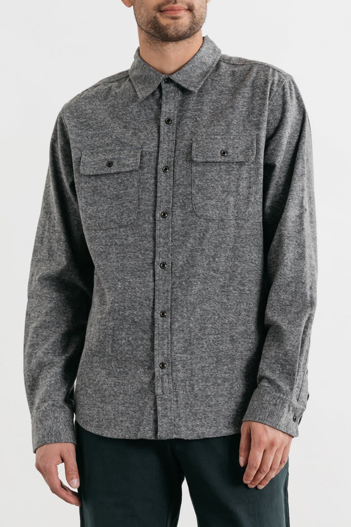 Cole Smoke Heather Bridge & Burn men's slim fit button up