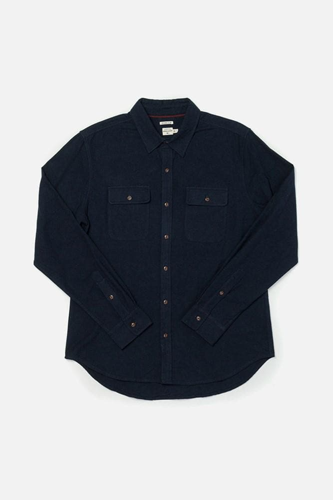Cole Navy Bridge & Burn men's slim fit button up