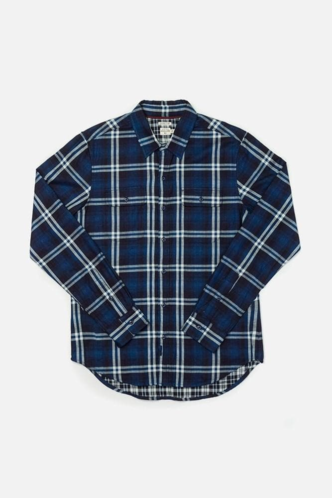 Cole Indigo Doublecloth Bridge & Burn men's slim fit button up
