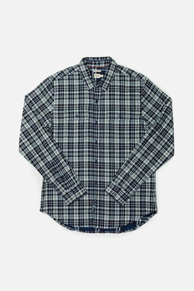 Cole White-Indigo Doublecloth Bridge & Burn men's slim fit button up