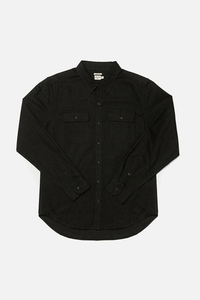Bedford Black Bridge & Burn men's long sleeve button up