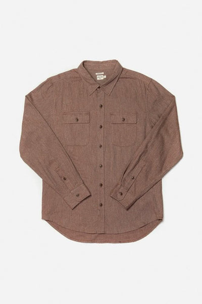 Bedford Copper Twill Bridge & Burn men's long sleeve button up