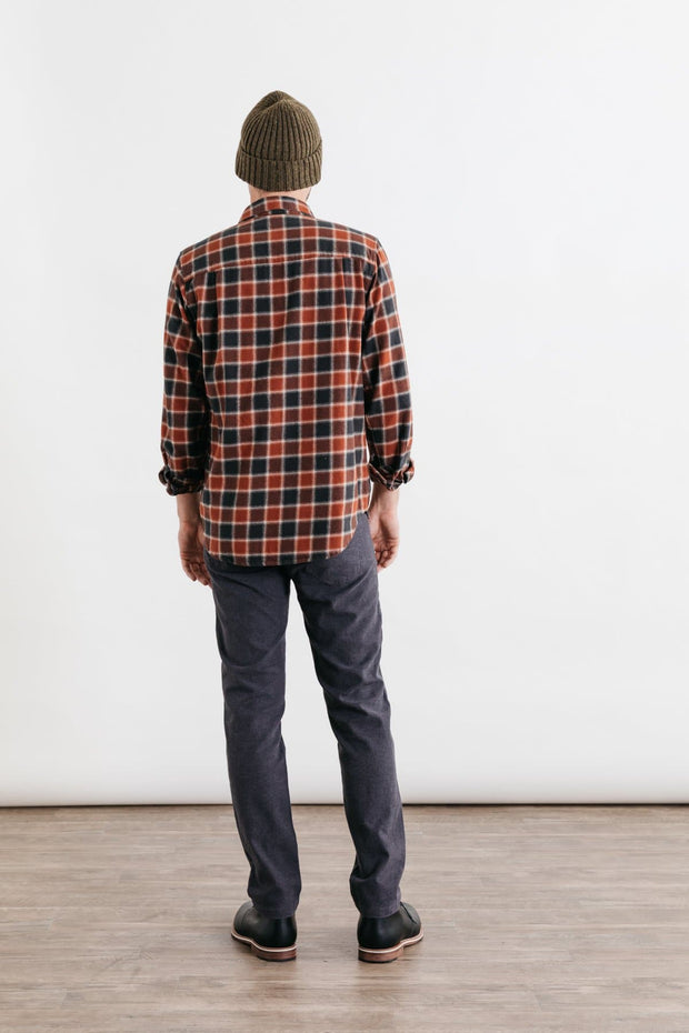 Bedford Rust Charcoal Plaid