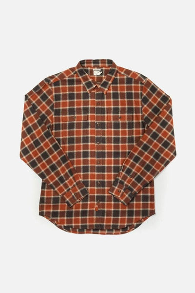 Bedford Rust Charcoal Plaid Bridge & Burn men's long sleeve button up