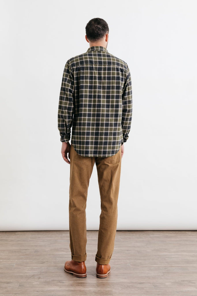 Bedford Olive Charcoal Plaid