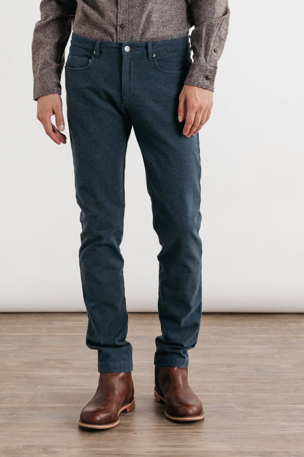 Bradley Navy Bridge & Burn men's slim-fit trouser