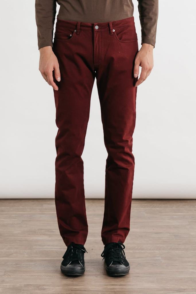 Bradley Burgundy Bridge & Burn men's slim-fit trouser
