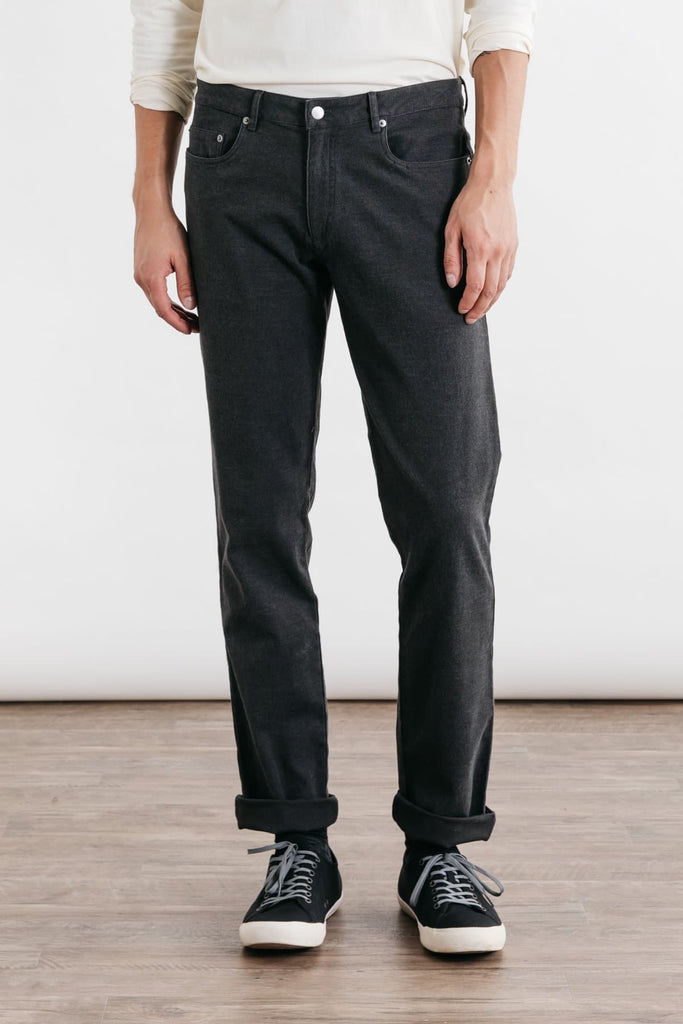 Polk Charcoal Bridge & Burn men's straight leg twill pants