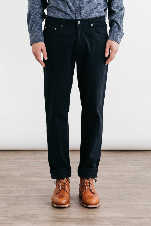 Polk Dark Navy Bridge & Burn men's straight leg twill pants