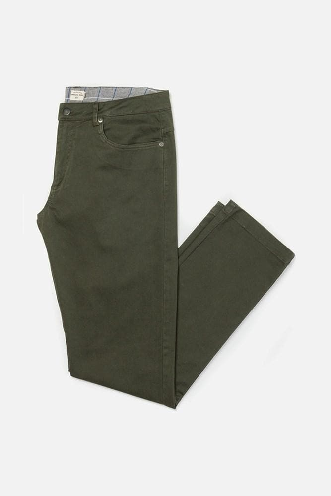 Polk Peat Bridge & Burn men's straight leg twill pants