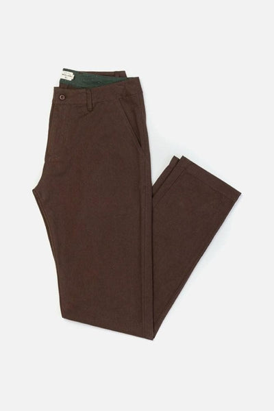 Tabor Dark Earth Bridge & Burn men's straight leg chinos