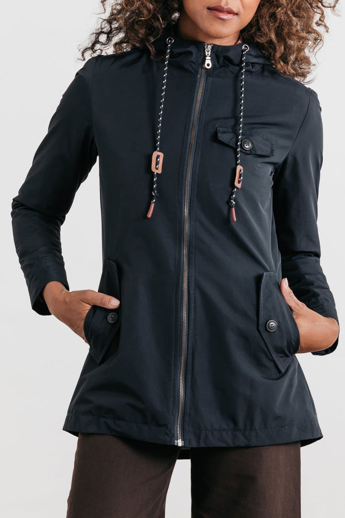 Warbler Navy Bridge & Burn women's lightweight water resistant jacket