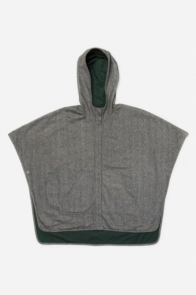 Selwyn Teal/Charcoal Bridge & Burn women's hooded cape