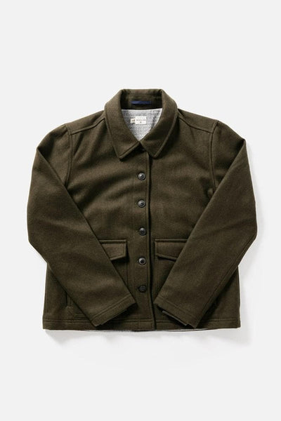 Noble Olive Bridge & Burn women's midweight wool jacket
