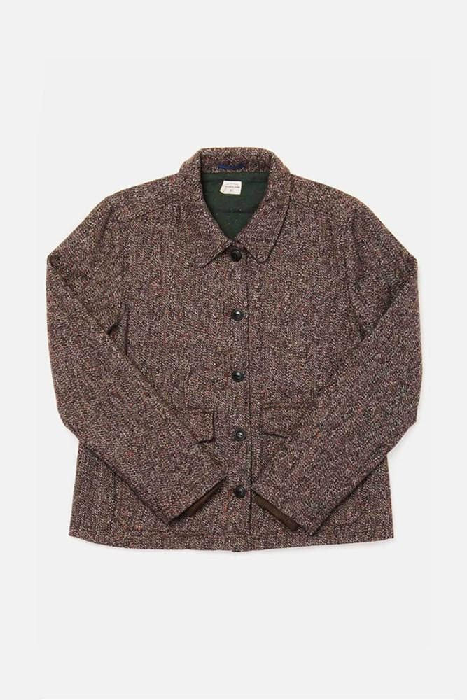 Noble Navy-Copper Tweed Bridge & Burn women's midweight wool jacket