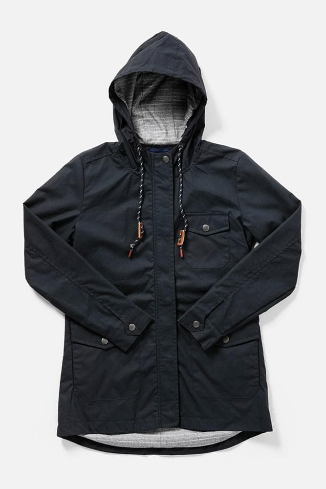 Balsam Navy Bridge & Burn women's waxed canvas jacket