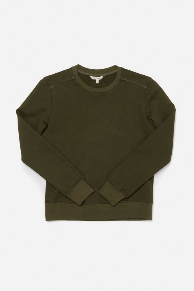 Linnton Dark Olive Bridge & Burn women's crewneck sweatshirt