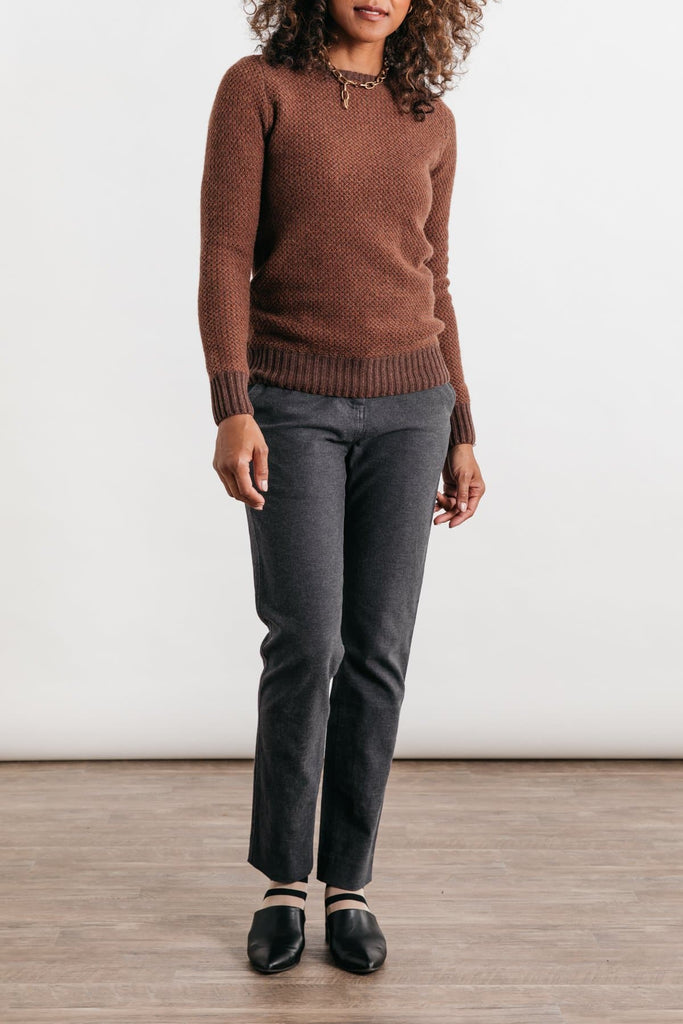 Chelan Rust Bridge & Burn womens mid-weight crewneck sweater