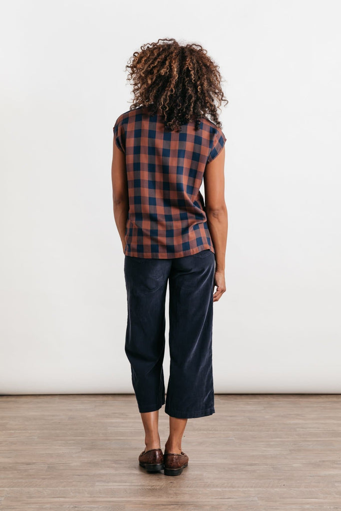 Nora Navy-Rust Gingham