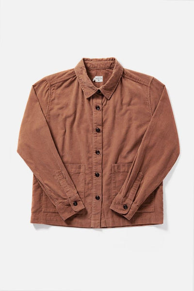 Kettering Clay Corduroy Bridge & Burn women's cropped corduroy overshirt