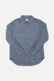 Bird Denim Blue Heather Bridge & Burn women's flannel button up shirt