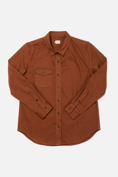 Bird Russet Bridge & Burn women's flannel button up shirt