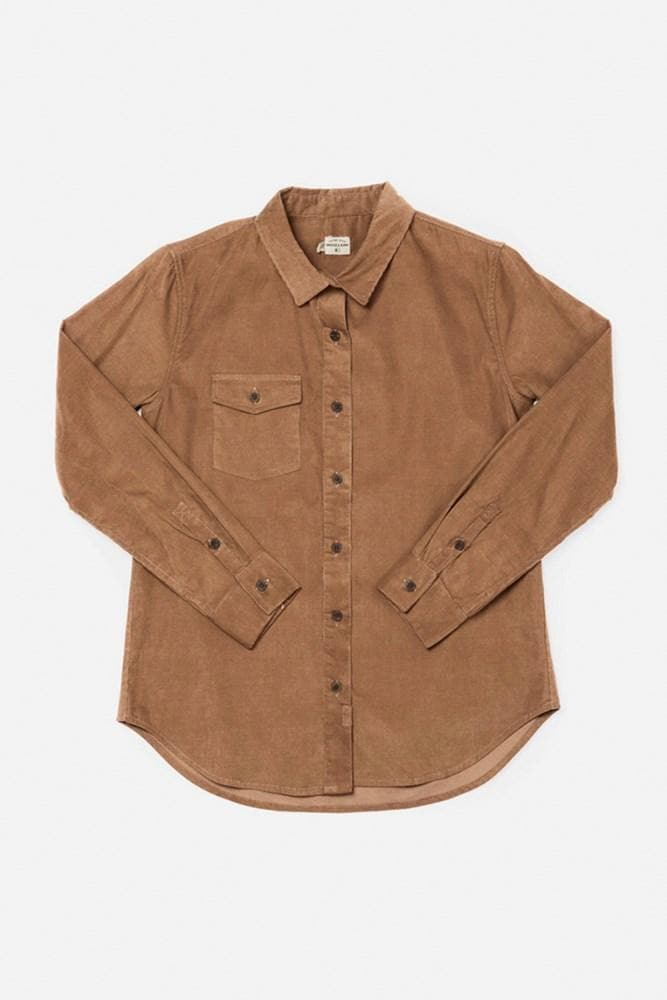 Bird Toffee Corduroy Bridge & Burn women's tailored button up shirt