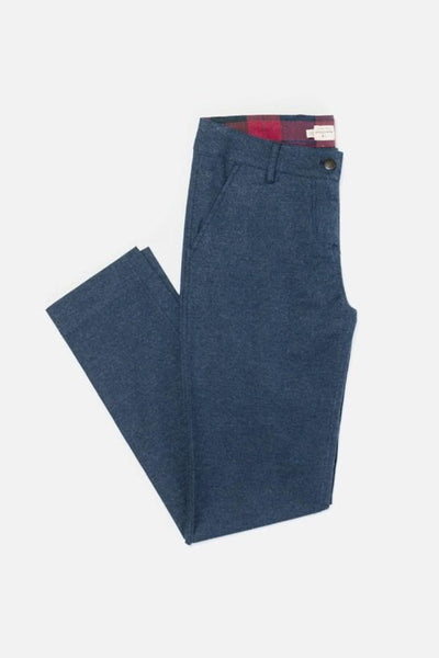 Market Navy Bridge & Burn women's mid rise cotton trousers
