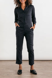 Simone Navy Bridge & Burn women's long sleeve jumpsuit