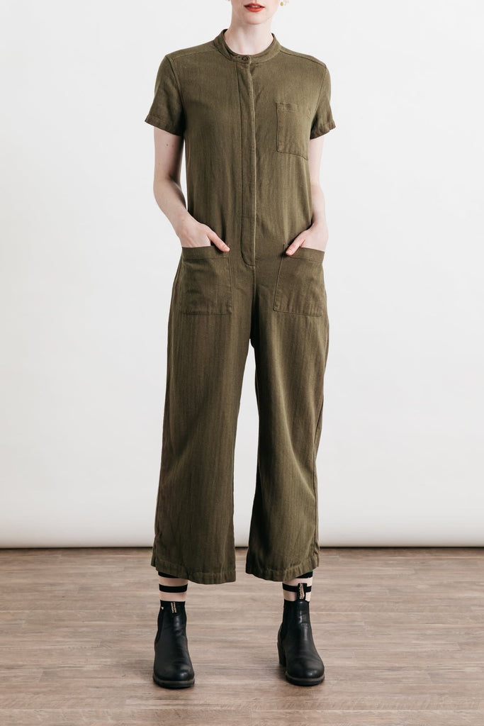 Otis Olive Bridge & Burn women's utility jumpsuit