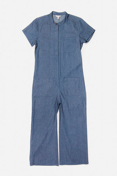 Otis Railroad Stripe Bridge & Burn women's utility jumpsuit