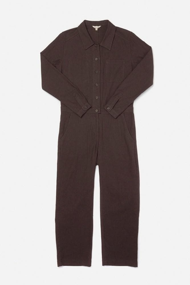 Burke Pewter Bridge & Burn long sleeve workwear jumpsuit
