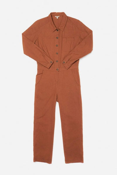 Burke Clay Red Bridge & Burn long sleeve workwear jumpsuit