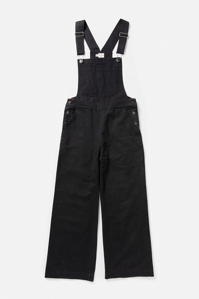 Roscoe Black Bridge & Burn women's wide leg cropped overalls