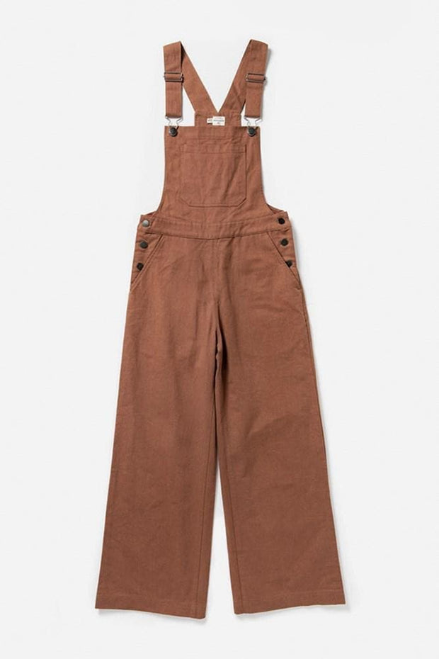 Roscoe Terracotta Bridge & Burn women's wide leg cropped overalls