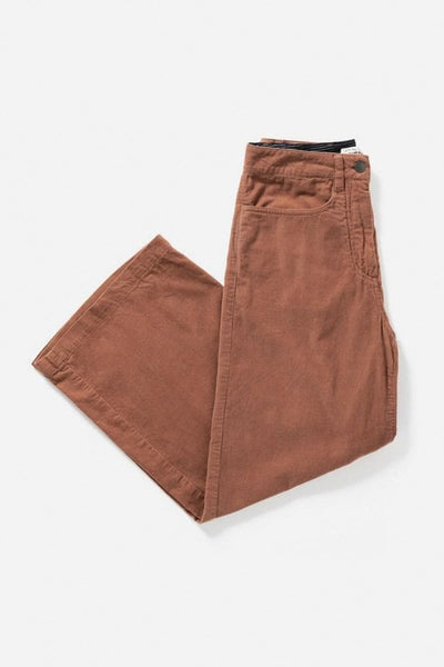 Easton Clay Corduroy Bridge & Burn women's high-waisted wide leg pants