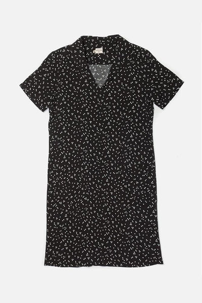 Frances Black Dot Bridge & Burn women's pullover shift dress